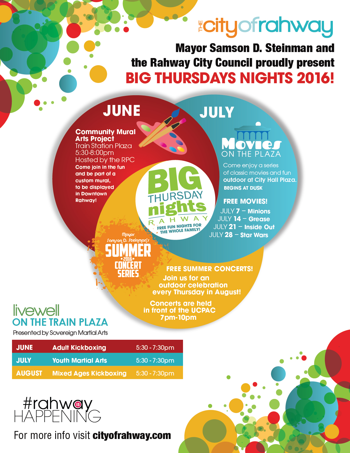 Rahway's Big Thursdays at City Hall Plaza