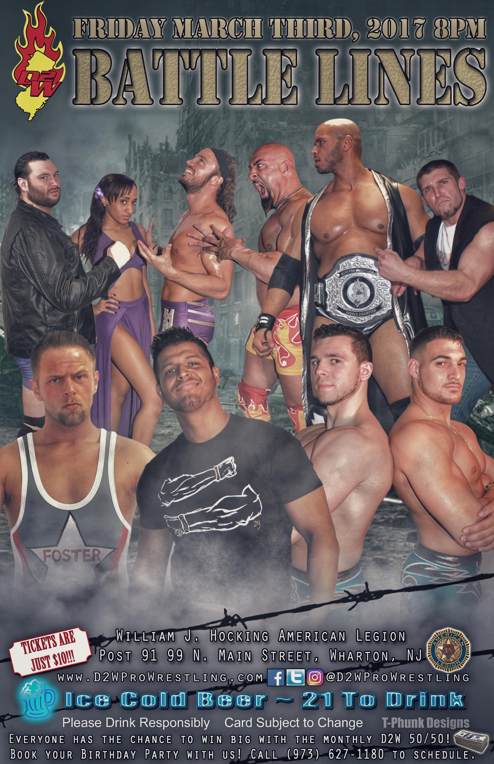 D2W Battle Lines Pro Wrestling Event