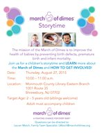 March of Dimes Storytime at Monmouth County Library Eastern Branch (Shrewsbury)