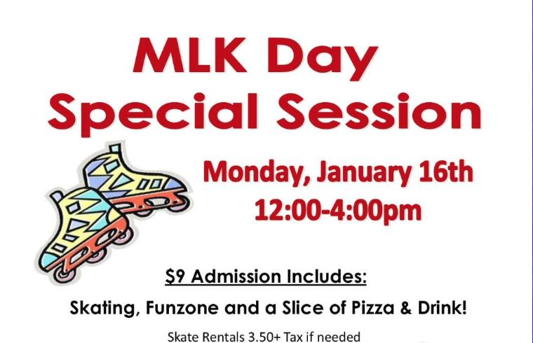 MLK DAY SPECIAL SESSION @ Hammonton Skating Center
