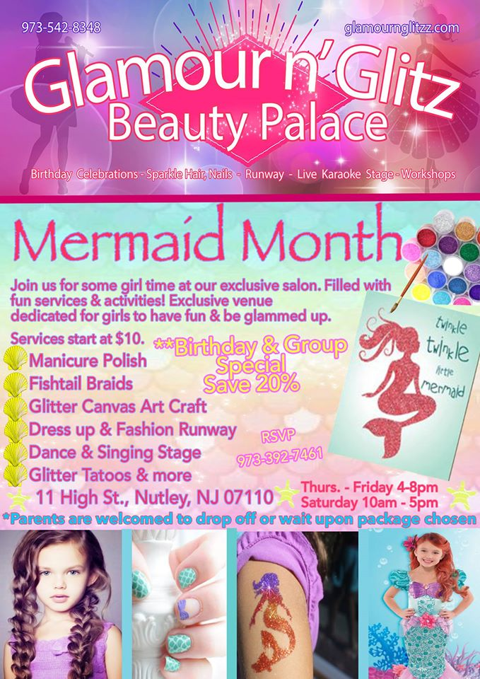 Girl Salon & Birthday Celebration Mermaid Week