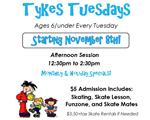 Tykes Tuesday at Hammonton Skating Center
