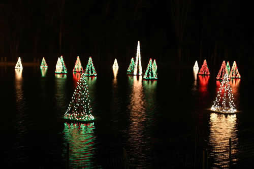 Christmas Tree Light Show at Historic Smithville