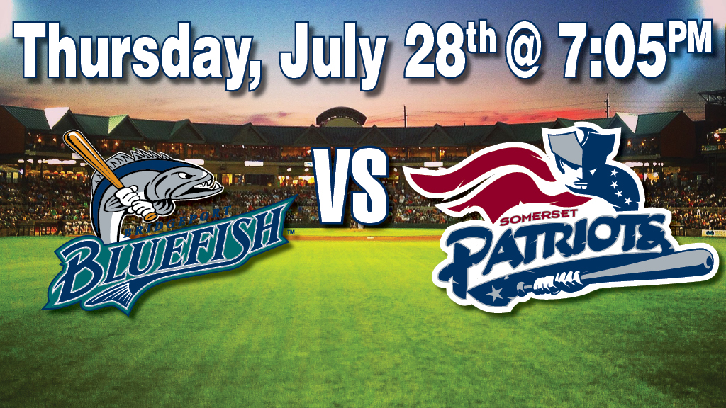 Somerset Patriots vs. Bridgeport Bluefish Baseball Game