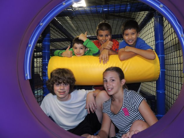 Our multi-level PlayMaze challenges and entertains you with 82 different play elements including slides, tunnels and bridges.