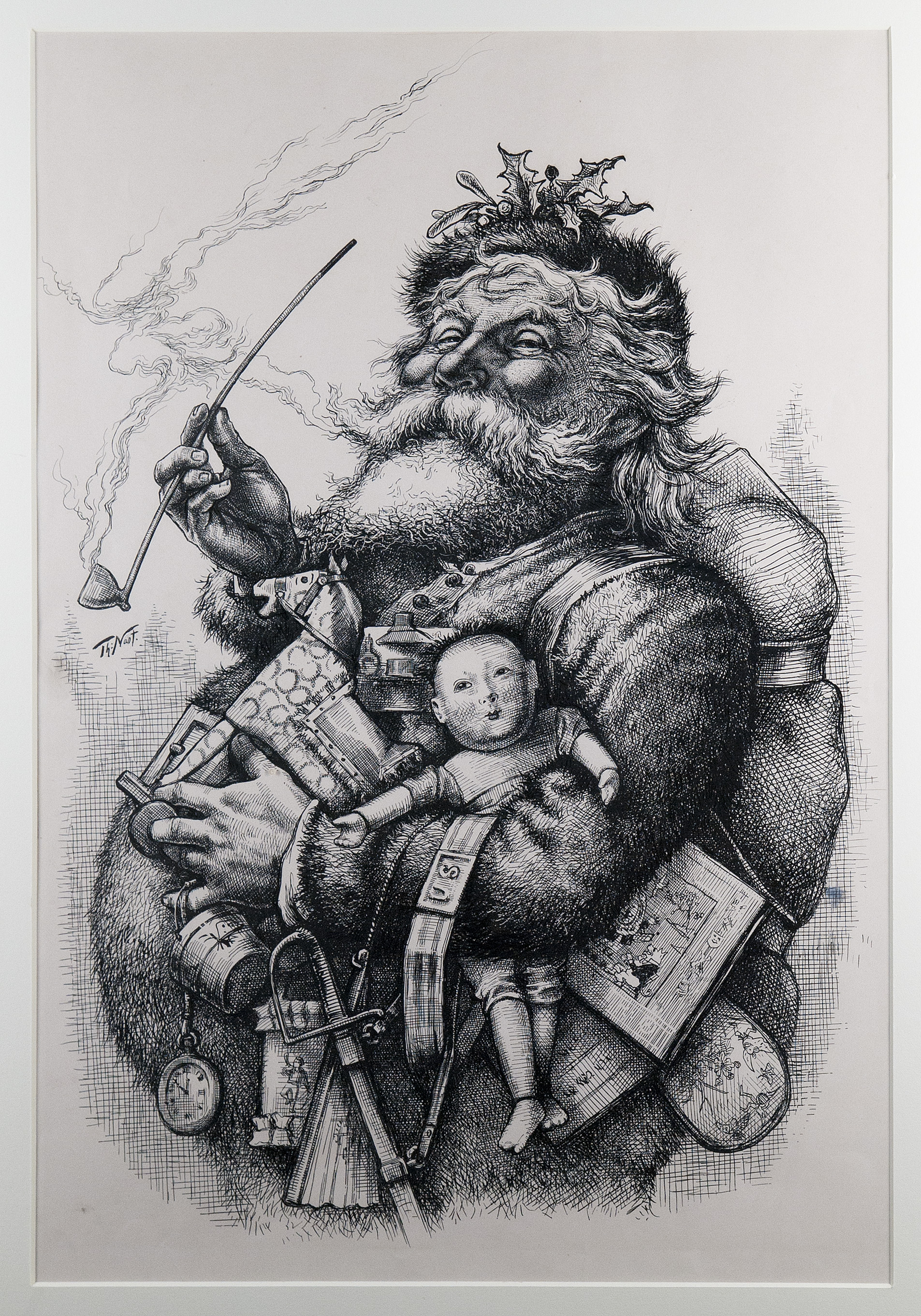 """Visions of Santa Claus: Iconic Christmas Illustrations by Thomas Nast"" at Macculloch Hall Historical Museum"
