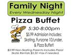 Family Night Pizza Buffet at Hammonton Skating Center