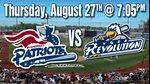 Somerset Patriots vs. York Revolution Baseball Game
