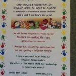 All Saints Regional Catholic Preschool Open House