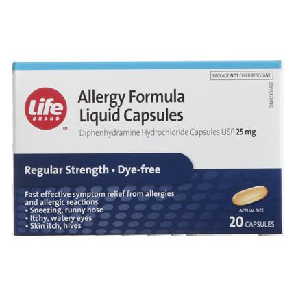 Life Brand Allergy Formula Liquid Capsules