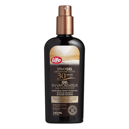 Life Brand Spray Gel with Instant Bronzing