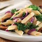Barilla PLUS® Penne with Red Onion, Kale and Mushrooms