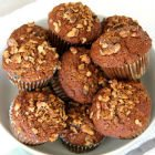 Carrot apple walnut muffins