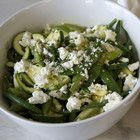 Summer green vegetable salad