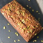 Pumpkin loaf with currants and pumpkin seeds