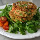 Crispy salmon cakes with mustard and dill