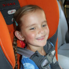 "The move to a ""big girl"" seat"