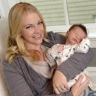 Melissa Joan Hart adds baby Tucker to her all-boys club