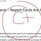 Everybody panic - report cards are coming home