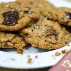 Salted Almond & Browned Butter Chocolate Chunk Cookies