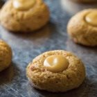 Hazelnut Maple Thumbprint Cookies