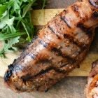 Sticky molasses-cider pork tenderloin