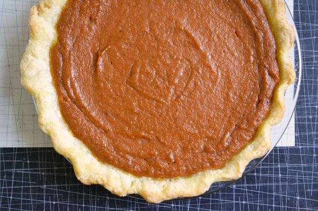 Ginger and Brown Sugar Pumpkin Pie