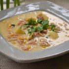 Ham, potato & cheddar chowder
