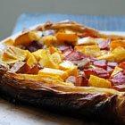 Mango-Rhubarb Puff Pastry Pie