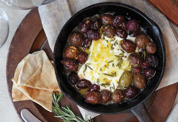 Roasted Feta and Olives