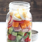 Chef's salad in a jar