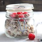 Muesli in a jar