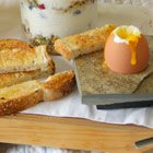 Soft-boiled eggs with toast soldiers