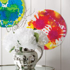 Tie-dye paintings and carnation creations
