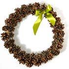 Indoor pinecone wreath