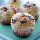 Ham, cheese and yogurt muffins