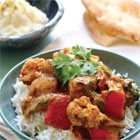 30-Minute Turkey Curry with Naan and Rice Pudding