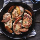 Skillet Pork Chops with Apples & Thyme