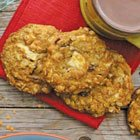 Cranberry white chocolate oatmeal cookies with red lentils