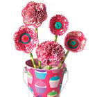 Cupcake carnations and paper posies