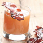Spiced Apple Cider with Candied Bacon