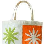 Stencilled book bag