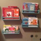 Keep your child's books neat with these DIY Nursery bookshelves
