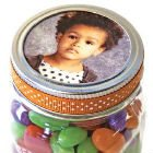 Jar top picture frame