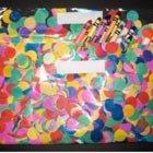 Confetti clutch