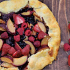 Stone fruit & berry galette