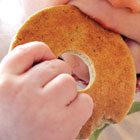 Banana-oat teething biscuits