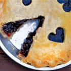 Blueberry or Saskatoon berry pie
