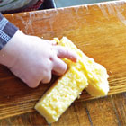 Cheesy polenta sticks for your baby