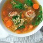 Alphabet Meatball Soup